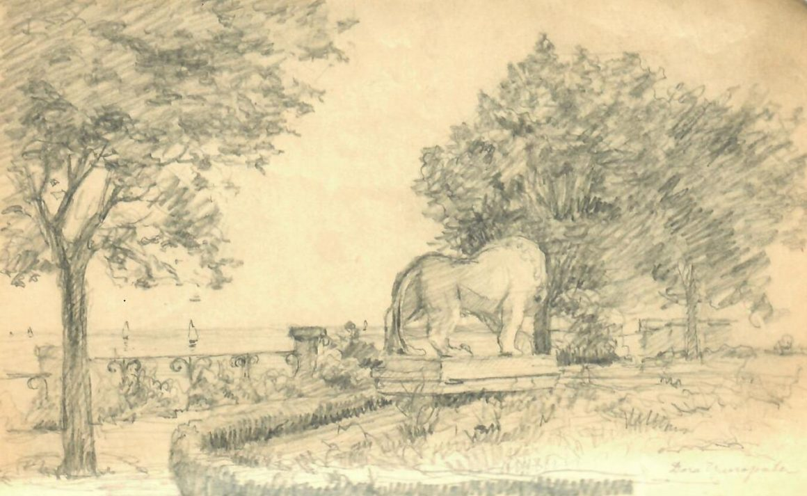 Из новых поступлений в музей. Самодельный блокнот с рисунками художника Александра Дмитриевича Чемисова (1885-1969).